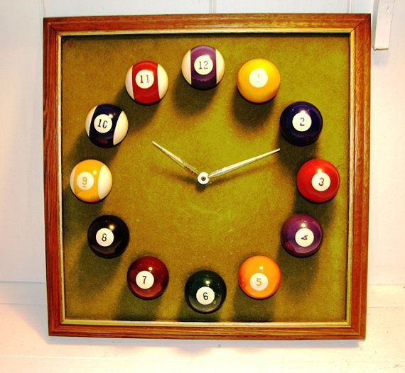 1970 S Vintage Billiards Pool Ball Clock Yes Please
