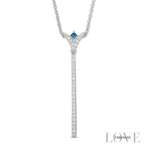 Zales Name and Heart-Shaped Birthstone with Wings Necklace (1 Name and Stone) HTUYIy