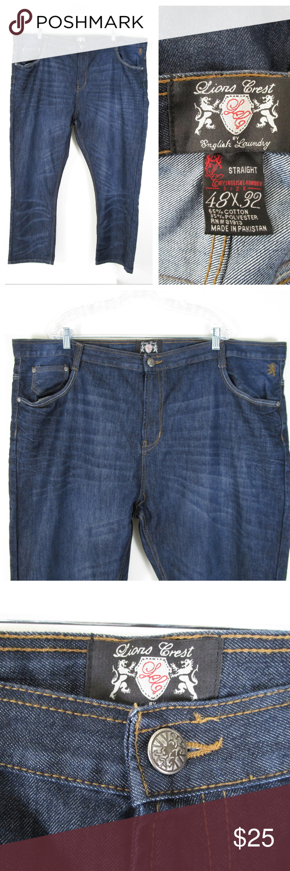 English Laundry Lions Crest Big And Tall Jeans Tall Jeans