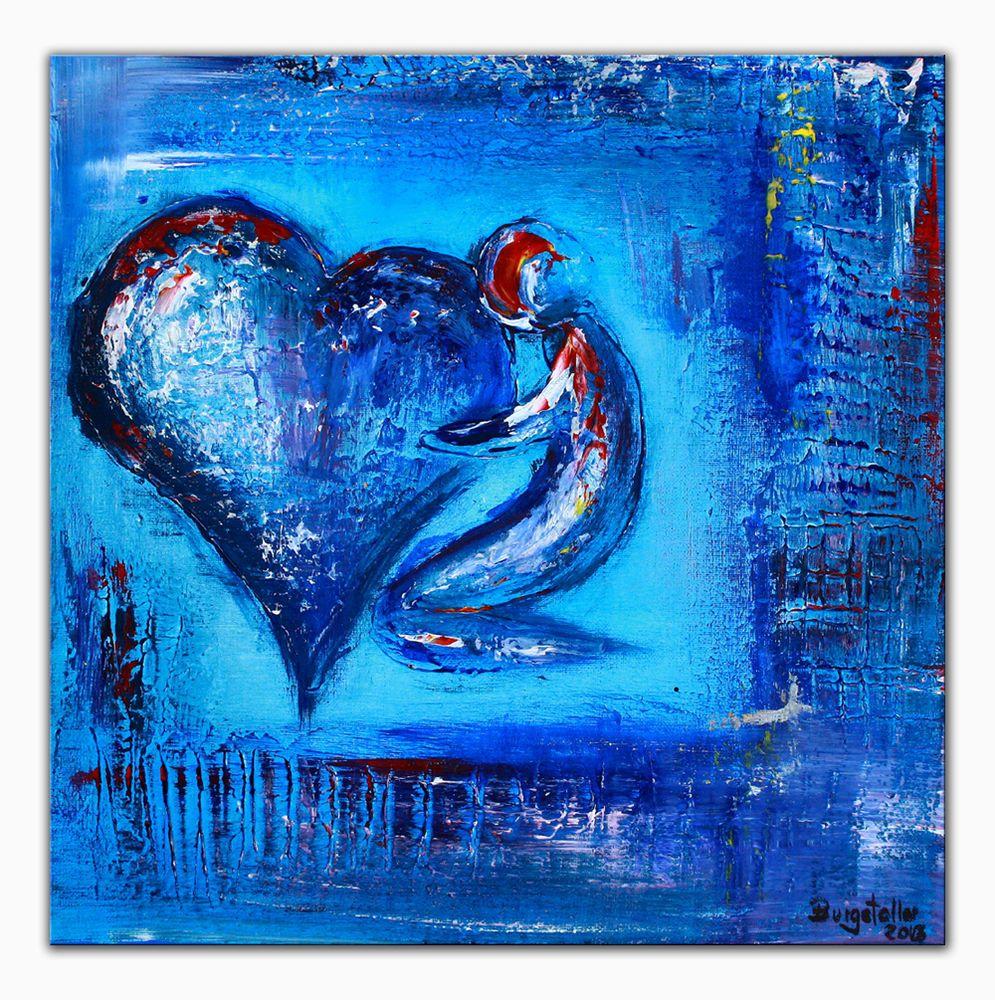 BURGSTALLER Herz bild Malerei abstrakt Liebe Freundin Mutter ...