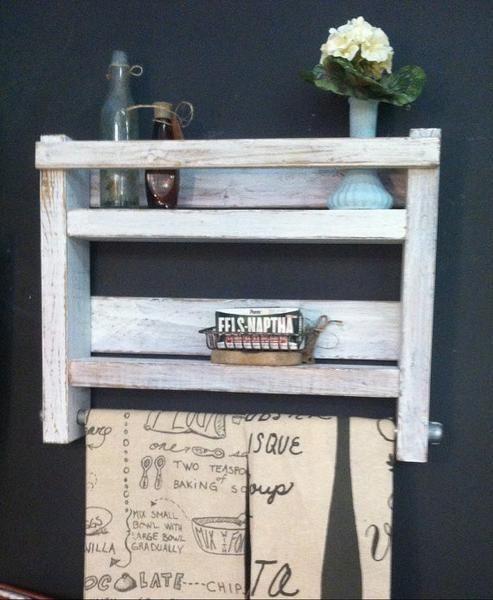 handmade woodworking rustic farmhouse bathroom towel rack shelfwood towel shelf
