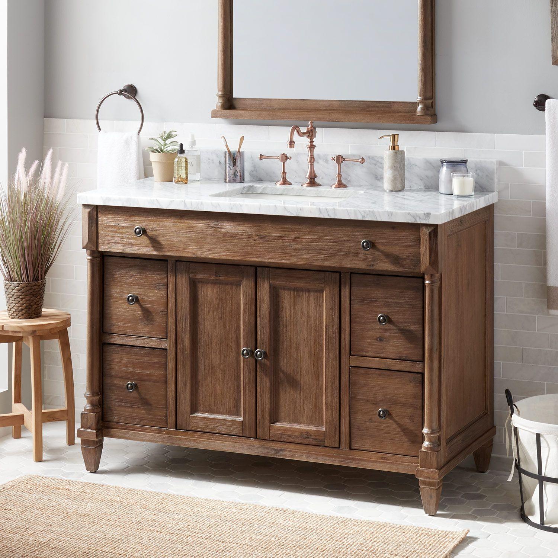 48 Neeson Vanity For Rectangular Undermount Sink In Rustic Brown