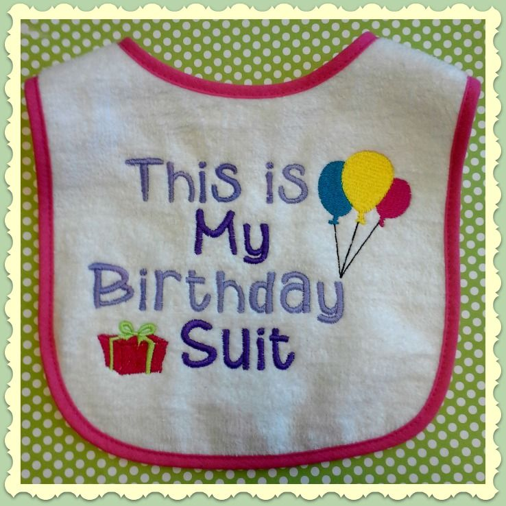 B-day bib for a one year old's b-day.