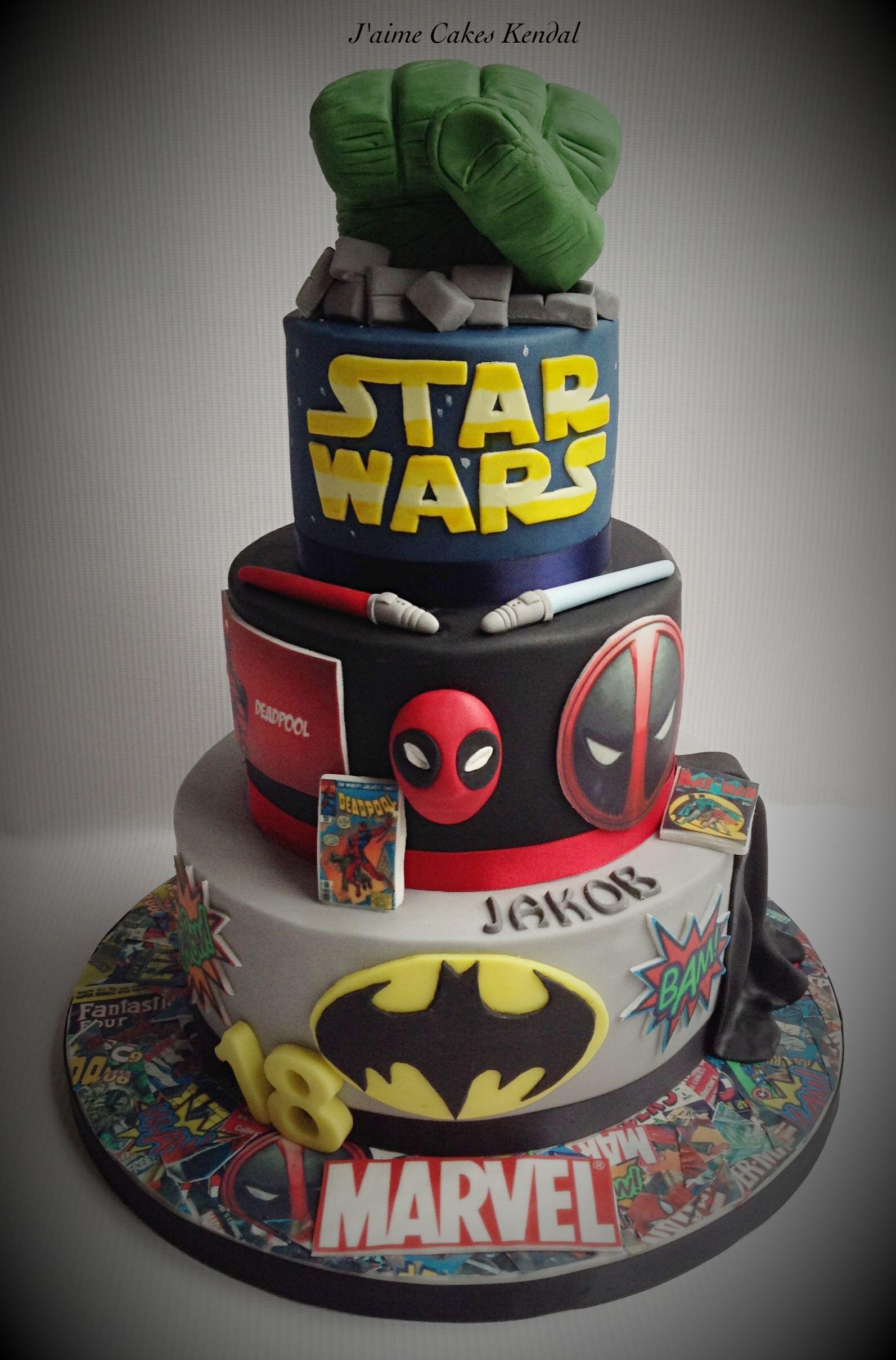 Comic Book Cake With Images Marvel Birthday Cake Birthday