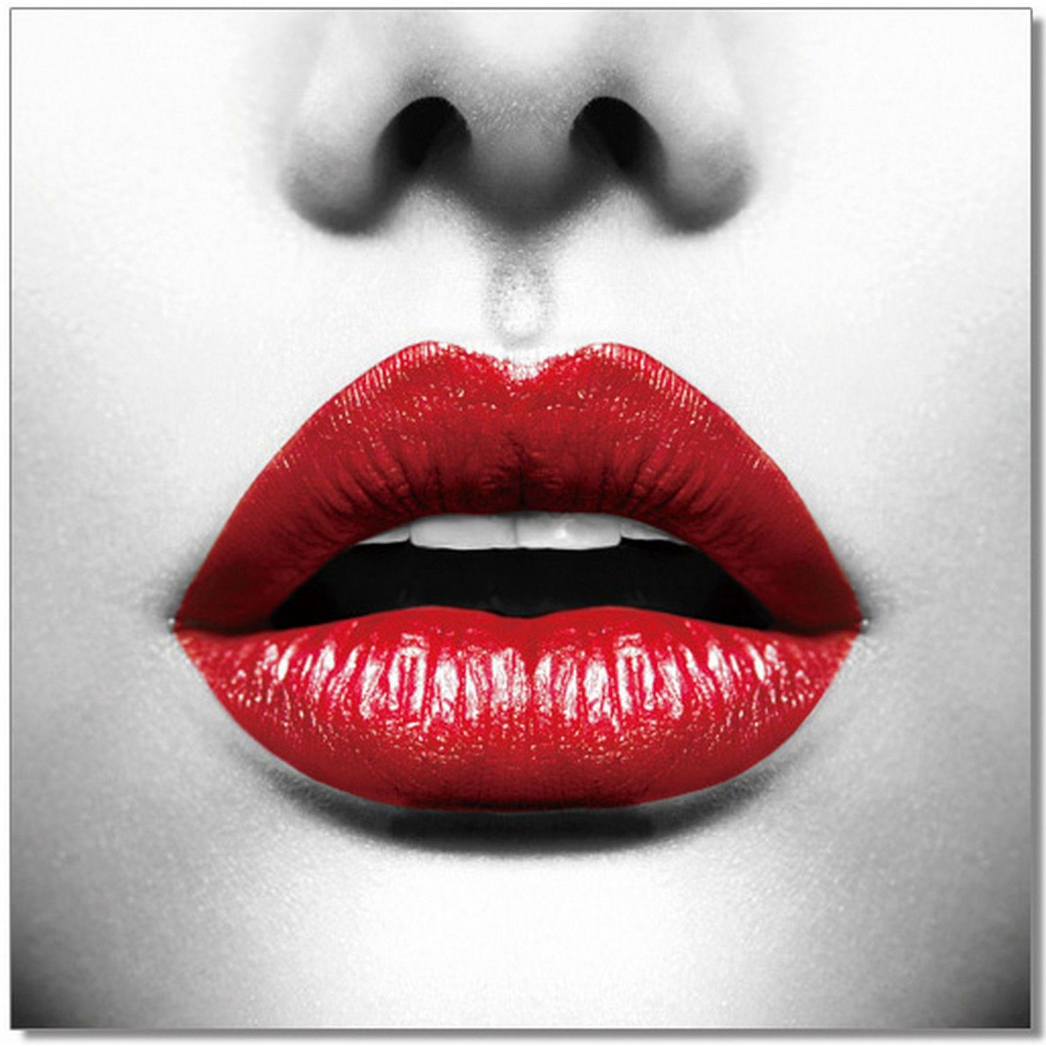 J M Red Lips Lips Premum Acrylic Wall Art In 2020 Lips Photo