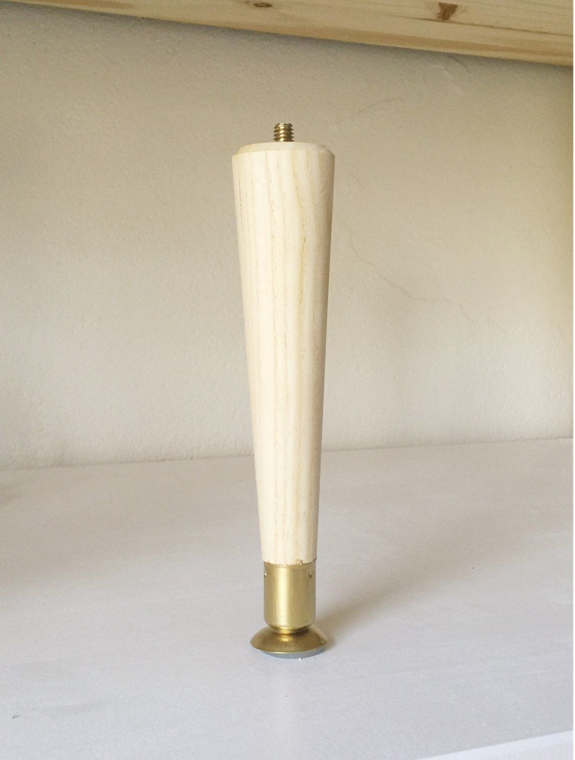 8 Mid Century Modern Brass Tapered Replacement Leg Midcentury Modern White Wood Texture Furniture Legs