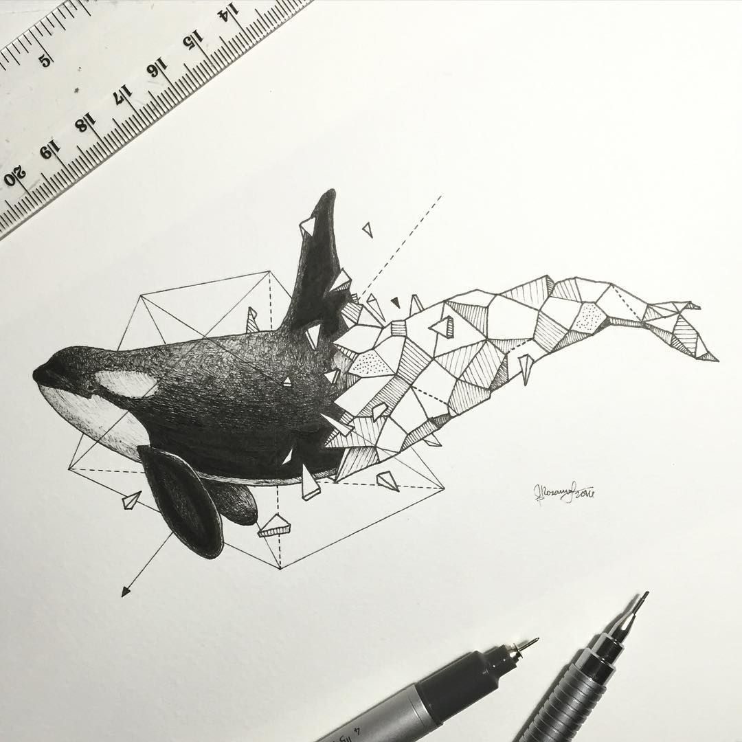 Les Animaux Geometriques De Kerby Rosanes Tattoos Pinterest