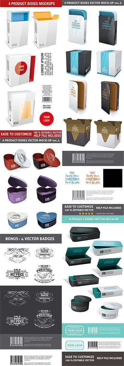 Download Boxes Free Ai Eps Vector Mockup On Behance Packaging Mockup Mockup Psd Design Freebie