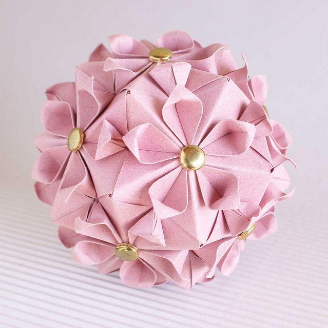 Cherry Blossom Kusudama Origami Design Book Origami Origami