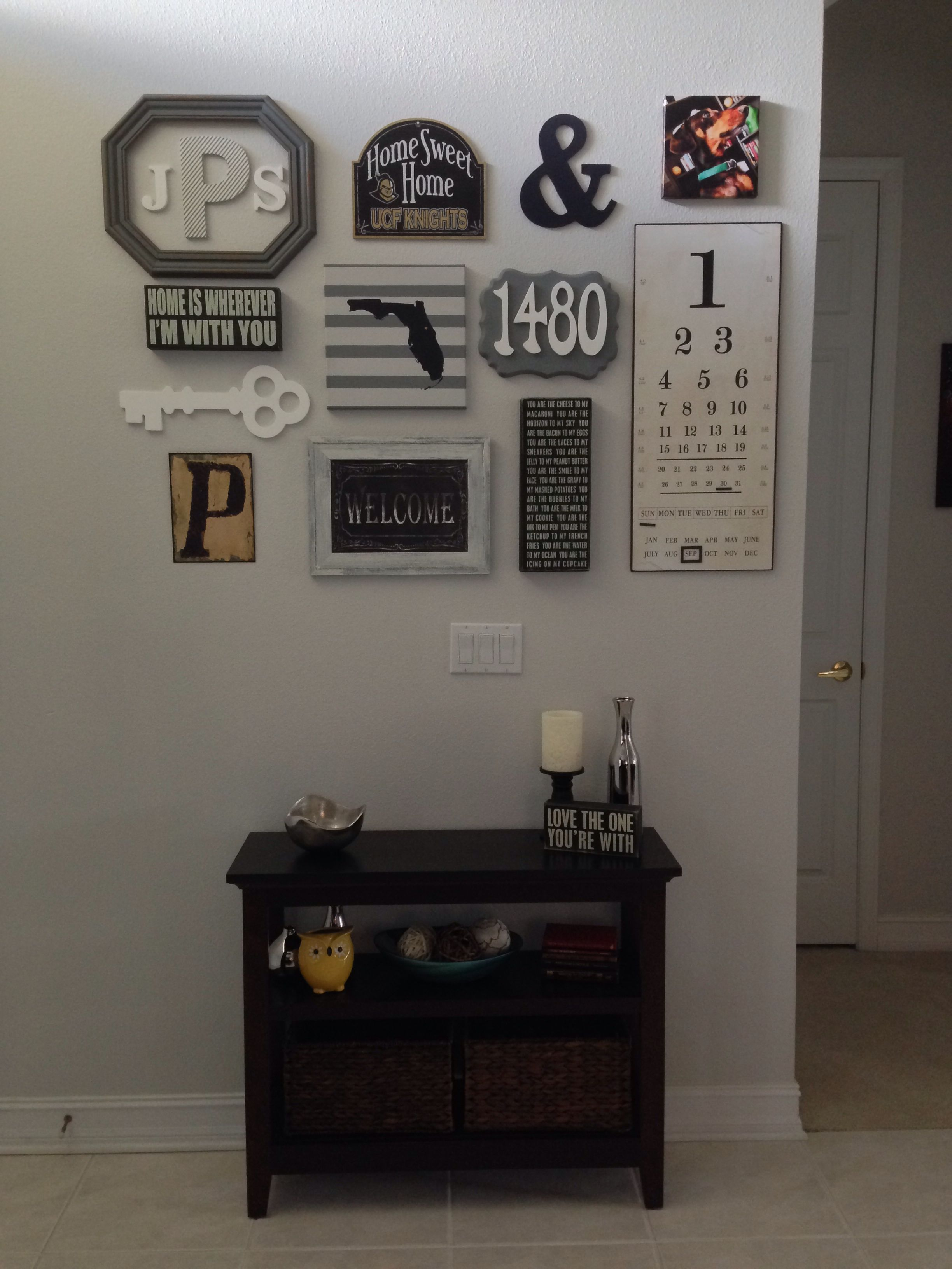 Foyer Office Quotes : Entryway collage wall my creations pinterest