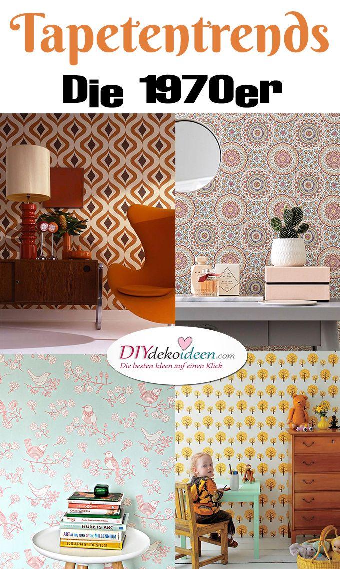 Tapeten - die 1970er wieder voll angesagt Pinterest - wohnzimmer rot orange