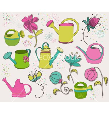 Spring design elements vector 716643 - by woodhouse84 on VectorStock®