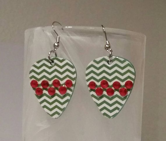 New Betsy's Jewelry - Check out this item in my Etsy shop https://www.etsy.com/listing/248928013/guitar-pick-earrings-betsys-jewelry