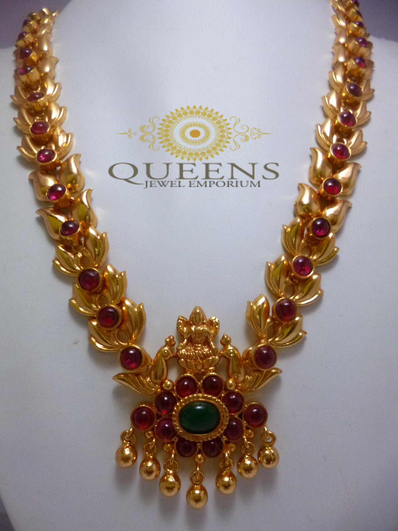 Antique Leaf Kemp Haram Temple Jewellery Jewelry Gold