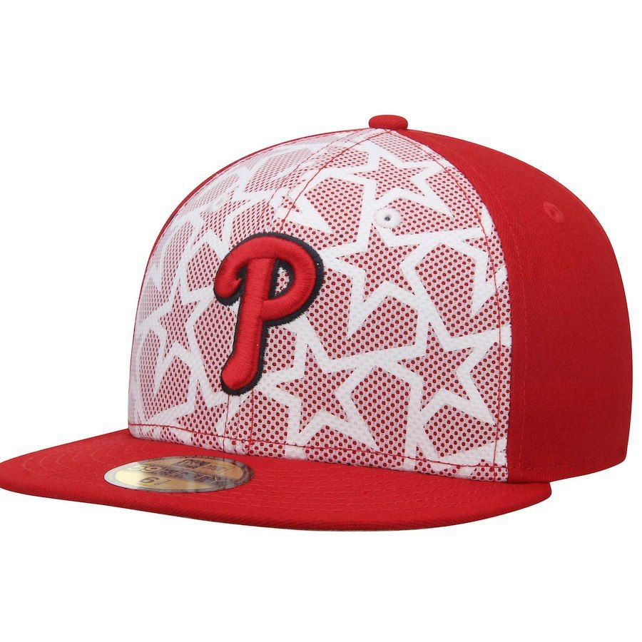 491a8a75490 Men s Philadelphia Phillies New Era White Red Stars   Stripes 59FIFTY  Fitted Hat