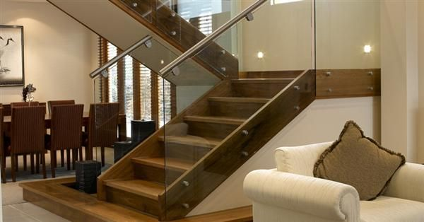 Best Wooden Staircase Design With Glass Panel Musee Idee 400 x 300