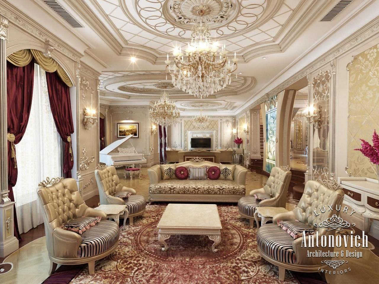 Luxus Villa Interieur Design Loungembel berprfen