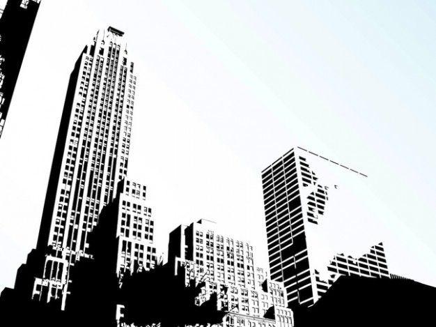 city vector 5 | pared 1 Tecnologia | Pinterest | Urbano, Rascacielos ...
