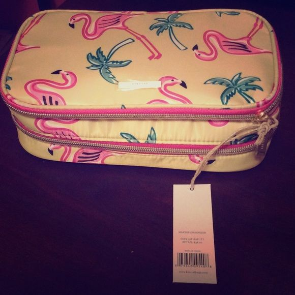 Kestrel Flamingo Cosmetic Bag With Double Zip Compartments Bags
