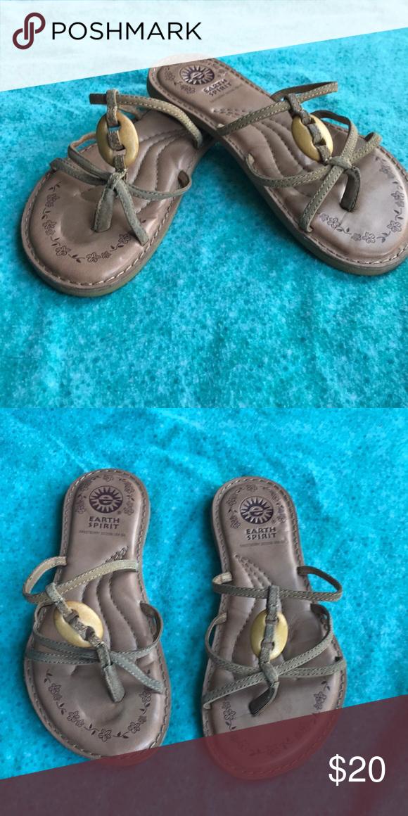 best sell high fashion a few days away Earth spirit sandals Soft minimalist earth spirit sandals beige ...