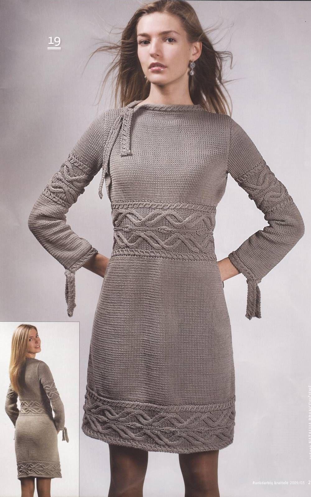 Клуб на осинке модели платьев вязаных спицами