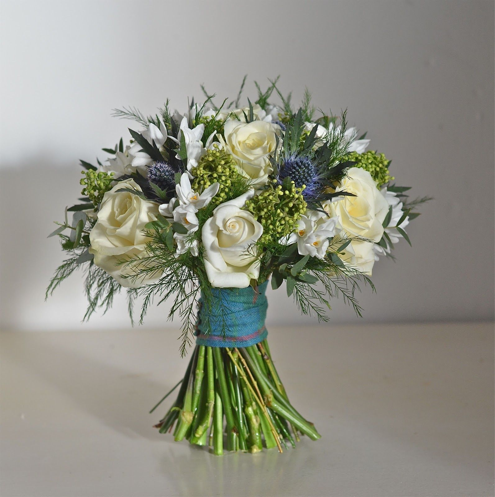 Wedding Flowers Blog Helen S Roses And Thistles Rhinefield House Thistle Bouquetscottish