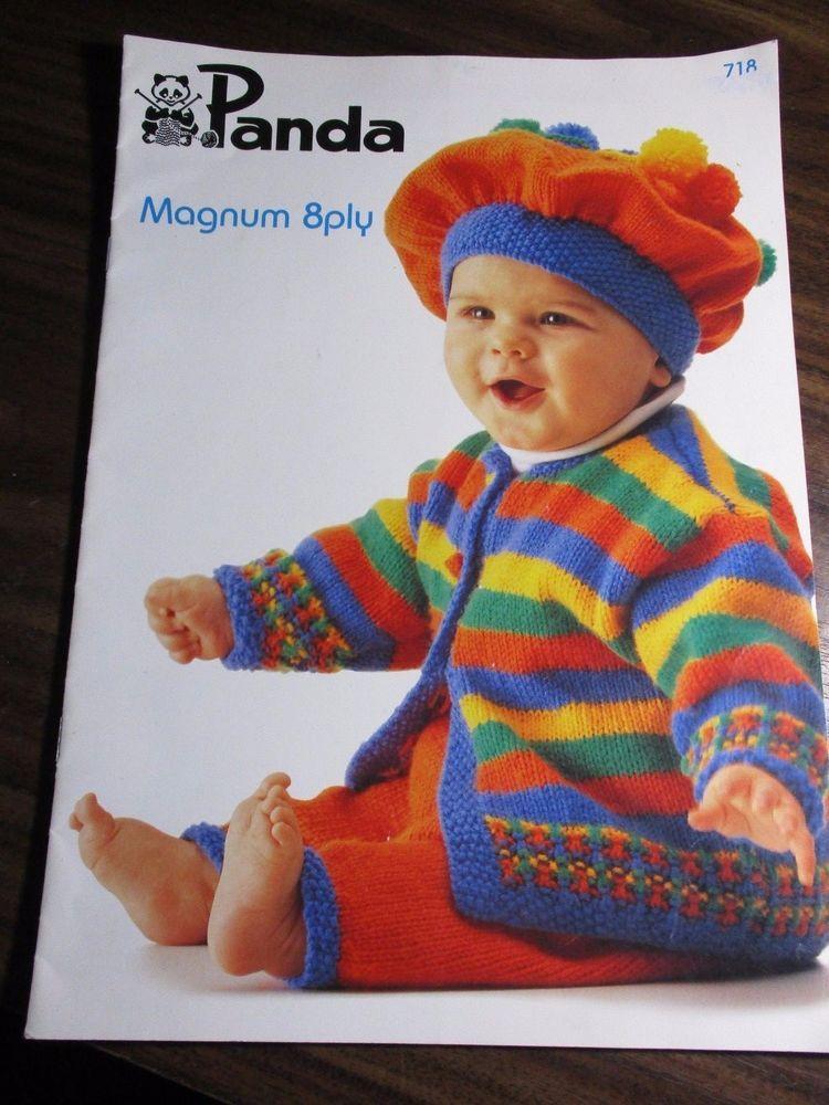 Panda Baby Knitting Pattern Leaflet No 718 Sizes 1 Months 9