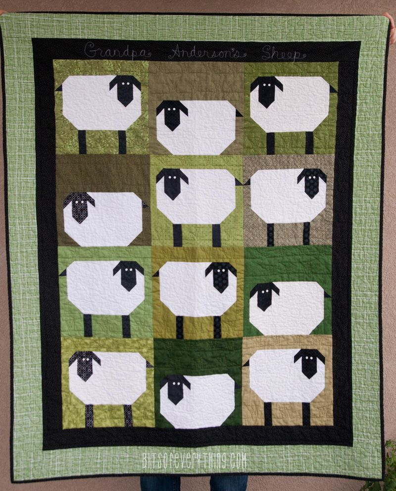 664f67d6a Bits of Everything - Sheep Quilt