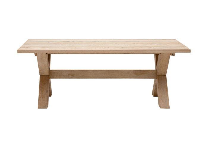 Spisebord i massivt eg 95 x 200 cm.