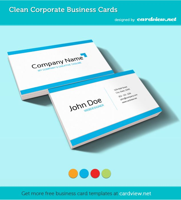 Free business card psd template free business cards pinterest free corporate business card psd from 4 votes today we are releasing a business card template pack called clean corporate business cards suitable for a reheart Gallery