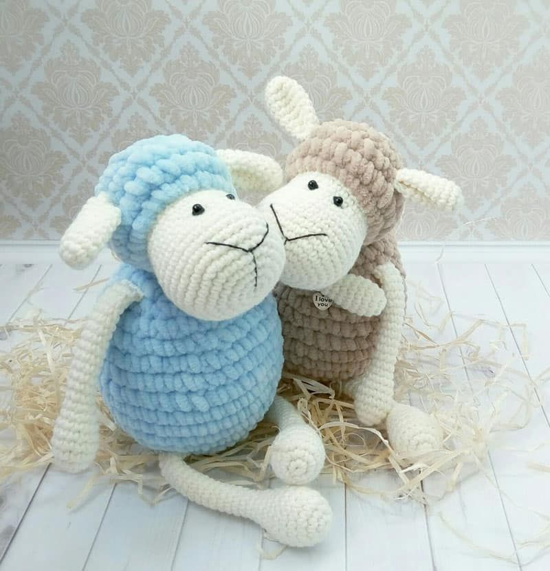 Amigurumi sheep plush toy crochet pattern   Strik og hækling ...