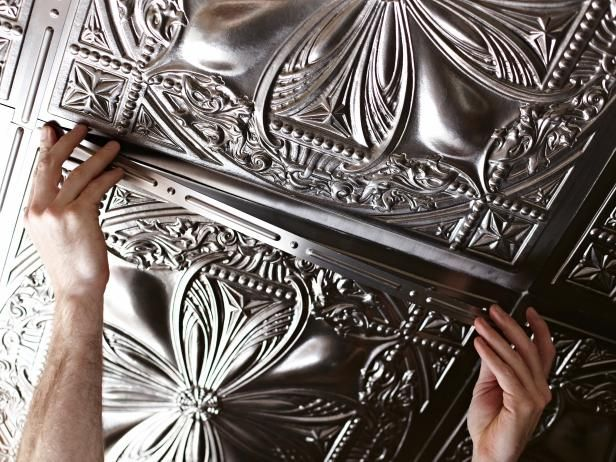 Get The Look Of 1920 S Glamour On Your Ceiling With Step By Instructions For Lying Real Looking Fake Tin Tiles Learn How Diynetwork