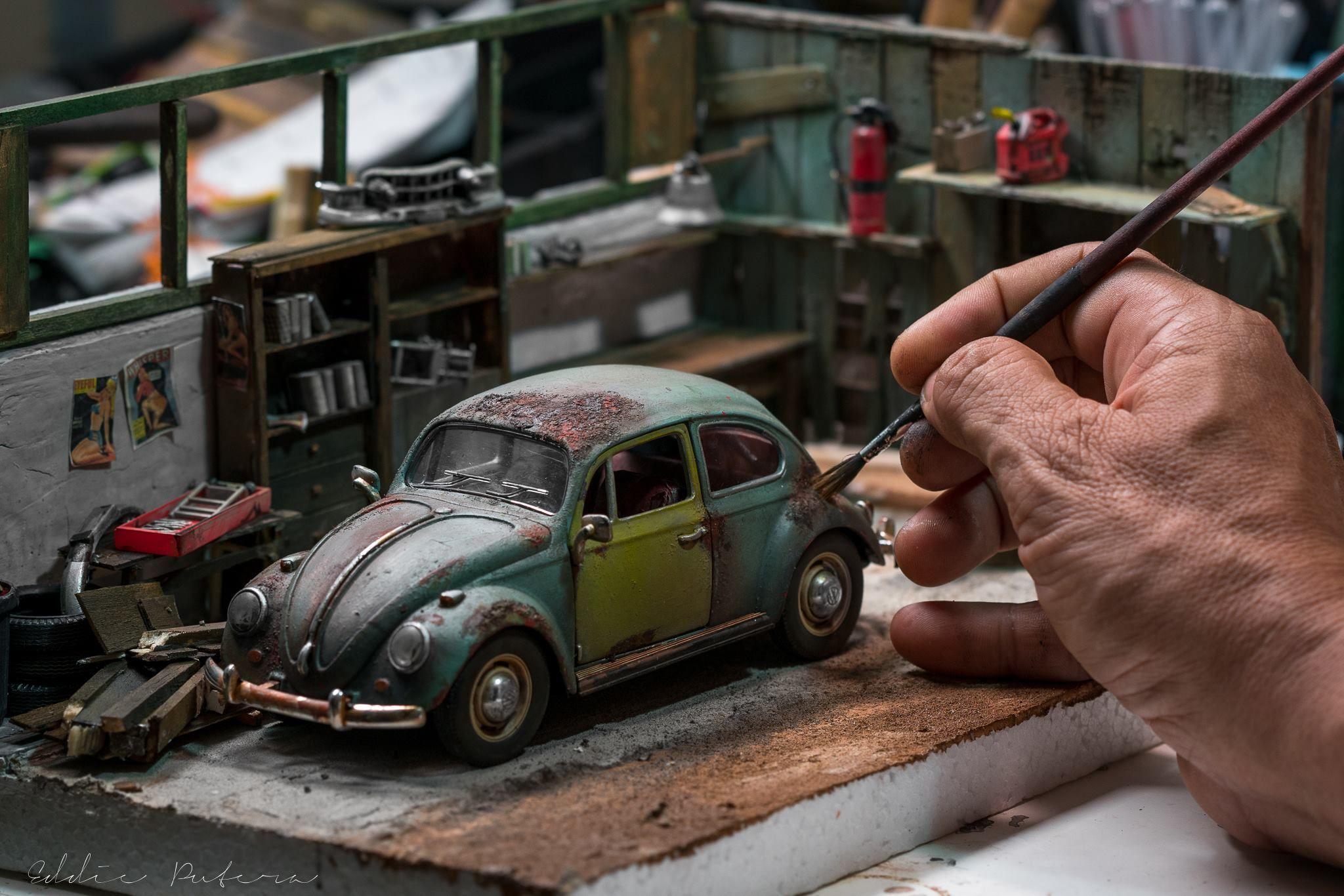 scale die cast vw beetle 1969 by eddie putera noordin miniature pinterest. Black Bedroom Furniture Sets. Home Design Ideas