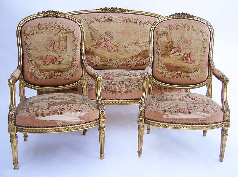 Louis xvi salon suite furnishings pinterest louis for Salon louis 16