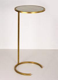 Carney Gold Leafed Cigar Table 12 Diameter 26 H