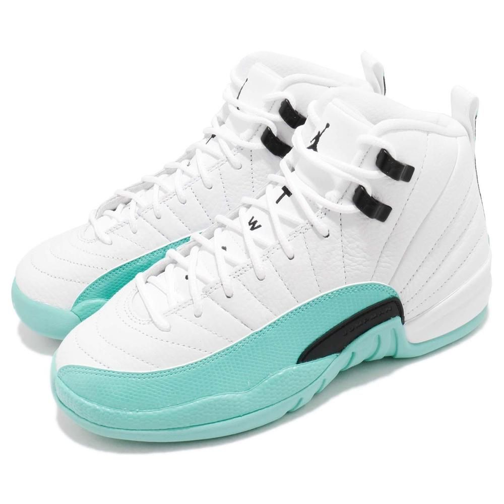 94cde0ef667b2a Nike Air Jordan 12 XII Retro GG GS Light Aqua White Black 2018 Girls  510815-100  AirJordan  Jordan