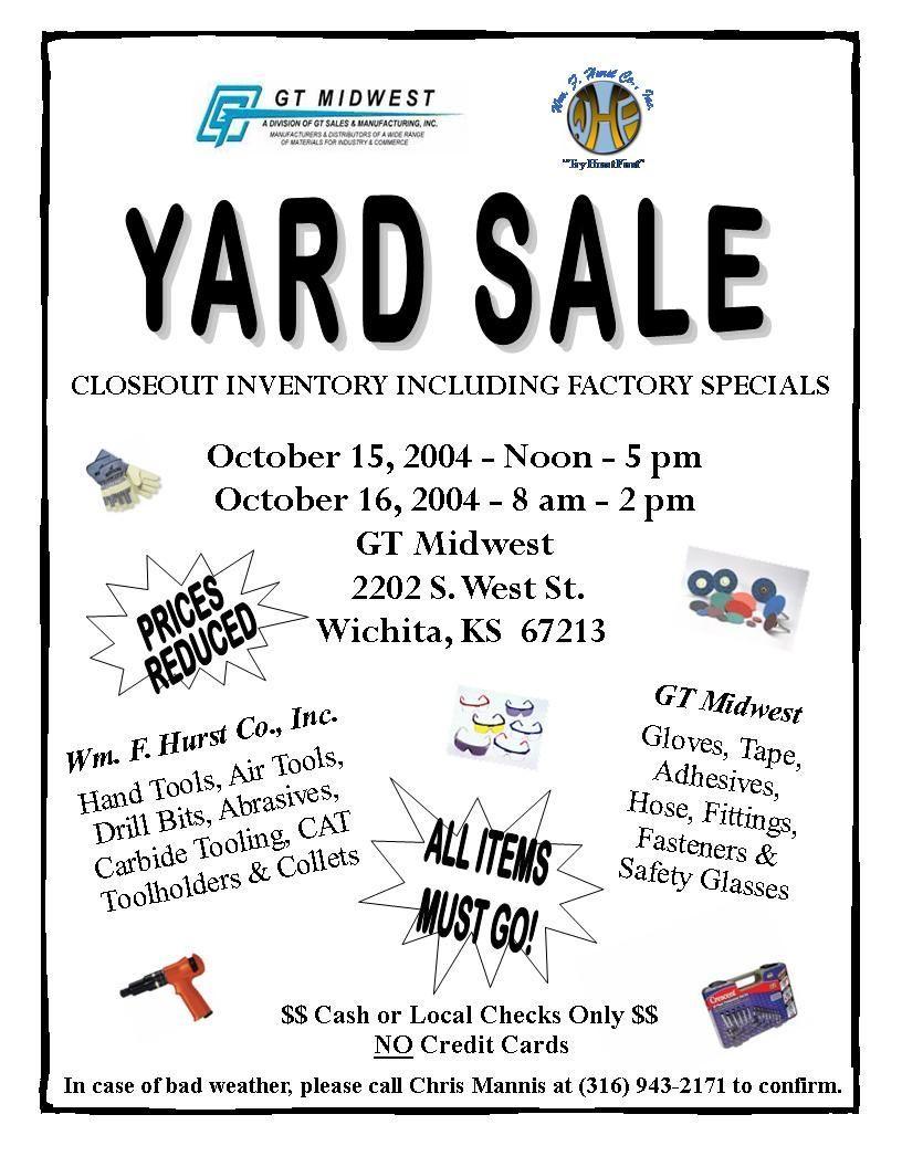 Pin On Card Templates Church yard sale flyer template