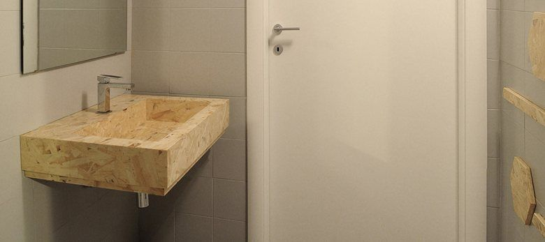 View full picture gallery of Bagno Low-cost In OSB | Bagno | Pinterest