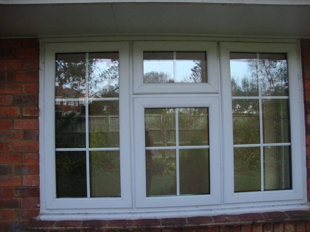Upvc Double Glazed Window Georgian Bars Style W180cm X H116cm Xlent Cond Lockabl Windows Window Accessories Double Glazed Window