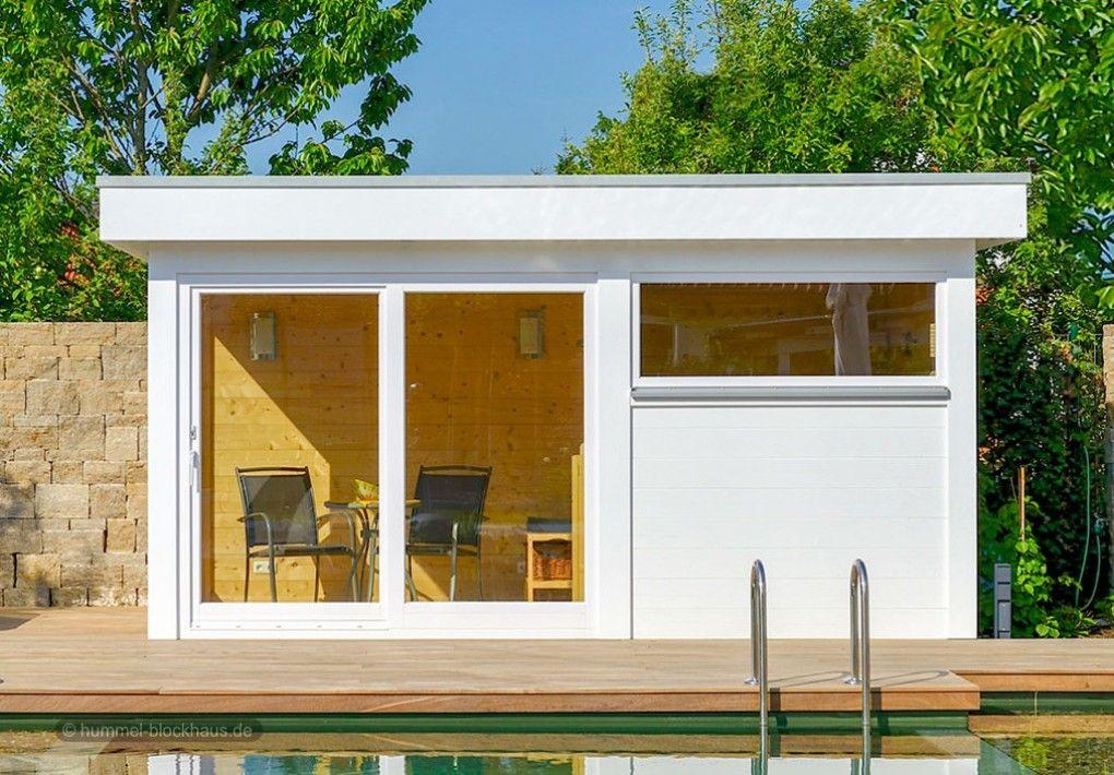 Moderne Gartenhäuser nach Mass HUMMEL Blockhaus