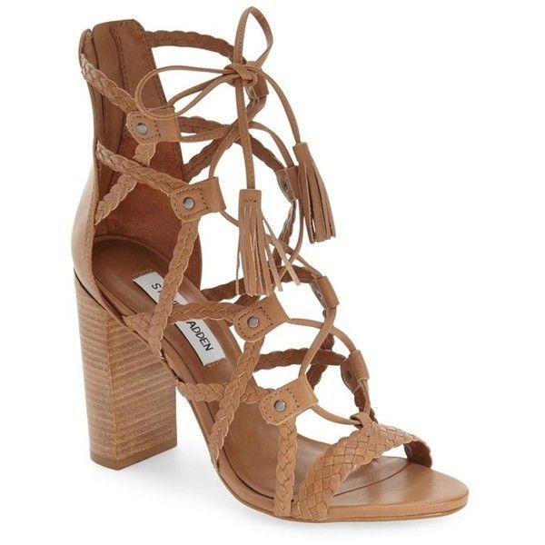 Steve Madden 'Tarrra' Ghillie Block Heel Sandal, 4