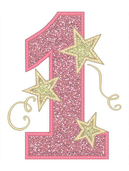 One Stars Applique Embroidery Design Instant Download Applique