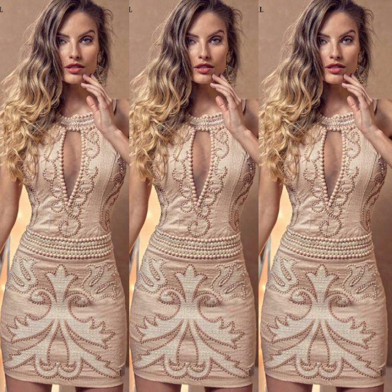 86ca8ae74 VESTIDO LUXO VANESSA LIMA – Loja Bela Modas | Вечерние платья | Bela ...