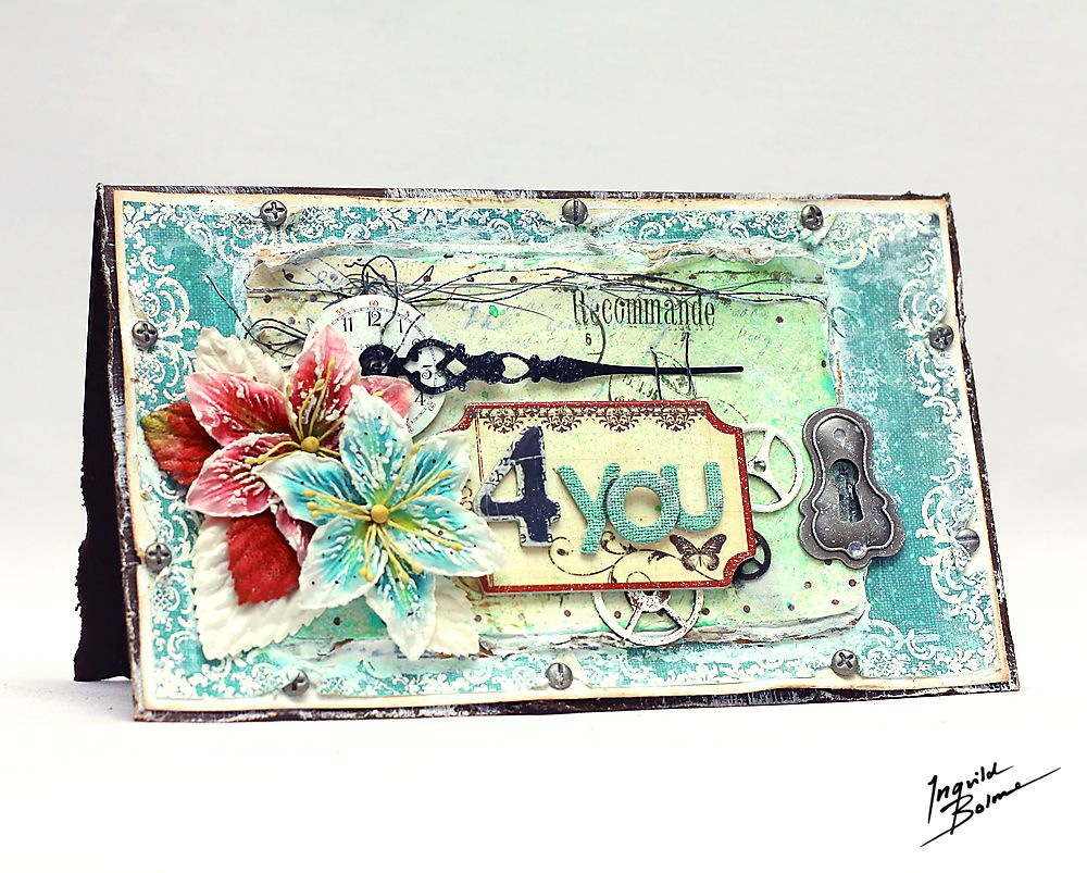 Thank You card filled with Prima products