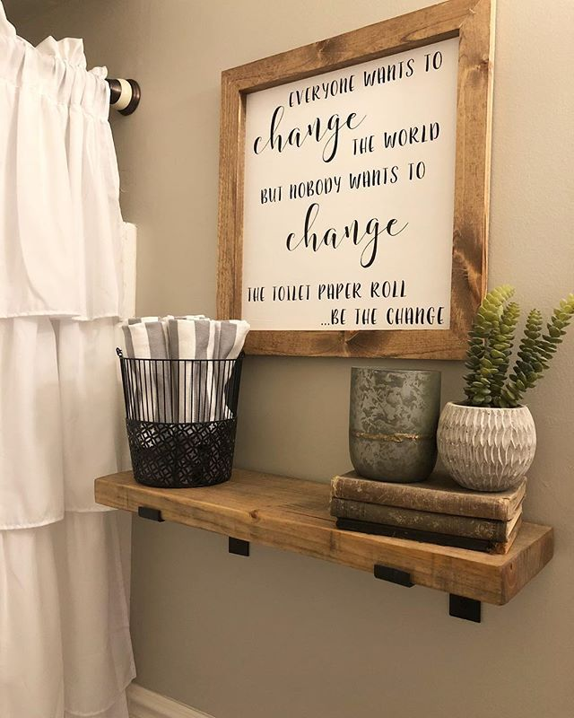 Funny Farmhouse Bathroom Sign Do People Change The Toilet Paper In Your House Bathroom Renovation Diy Diy Bathroom Decor Bathroom Signs