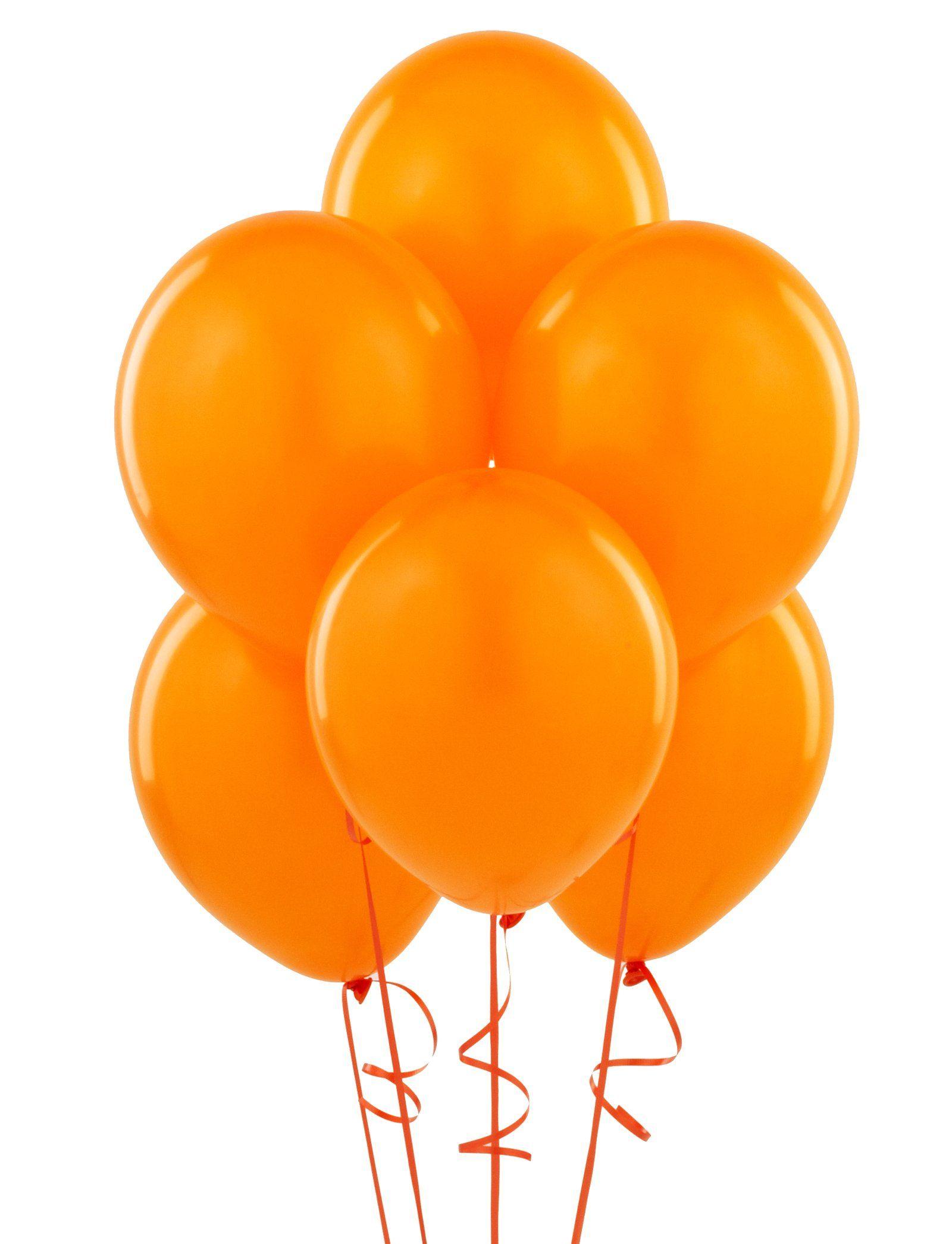 Orange Matte Balloons Yggbirthdayexpressbash
