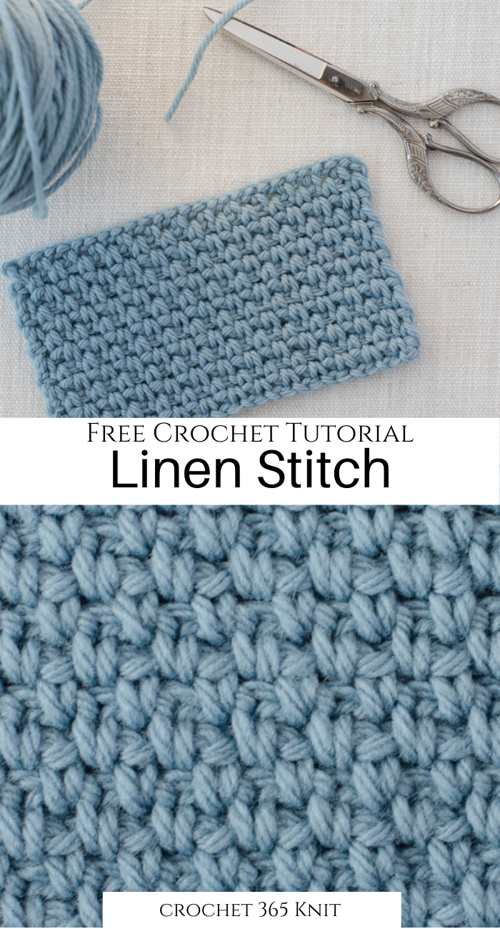 How to Crochet the Linen Stitch  Crochet 365 Knit Too