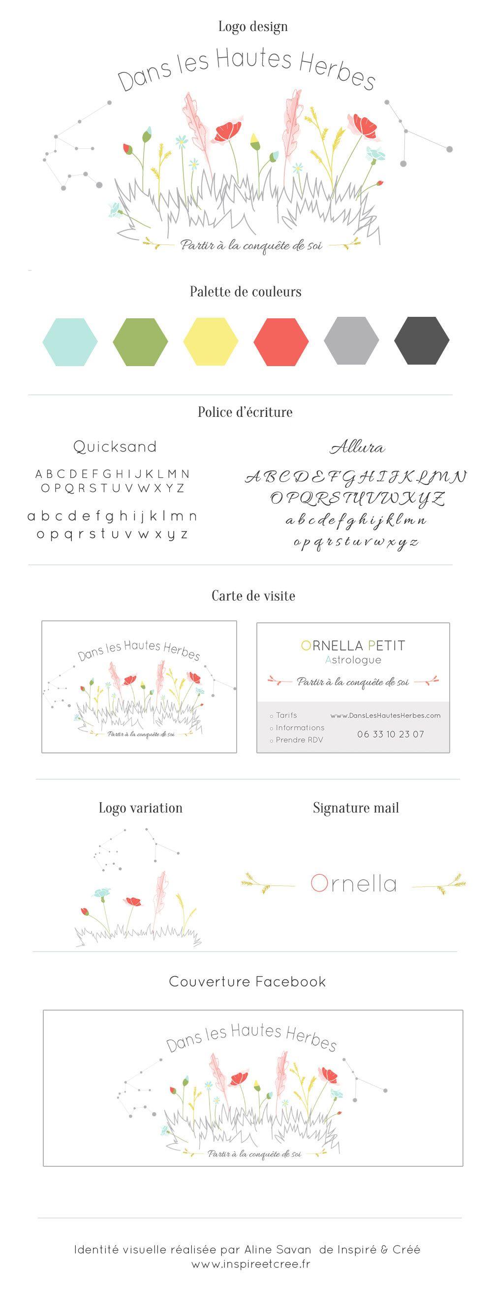 Identite Visuelle Logo Carte De Visite Signature Dans Les Hautes Herbes