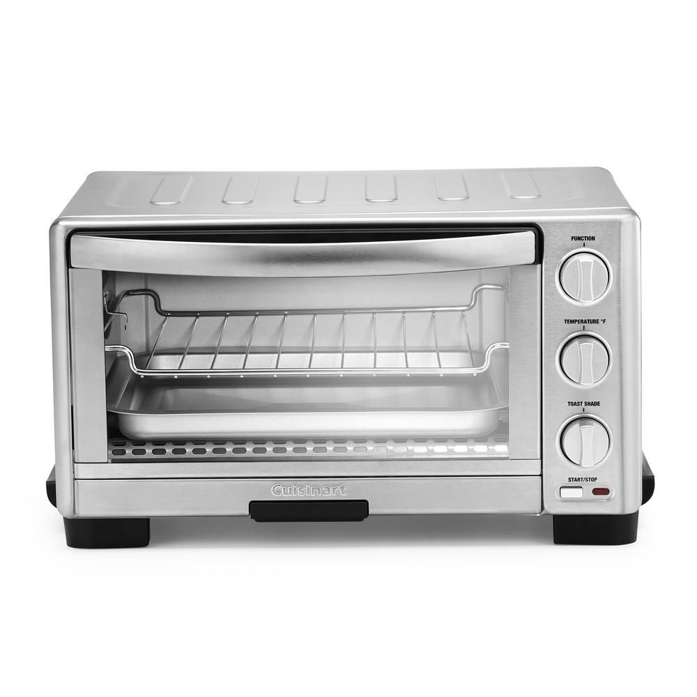 Cuisinart 6 Slice Silver Toaster Oven Broiler Toaster Stainless Steel Toaster Stainless Steel Oven