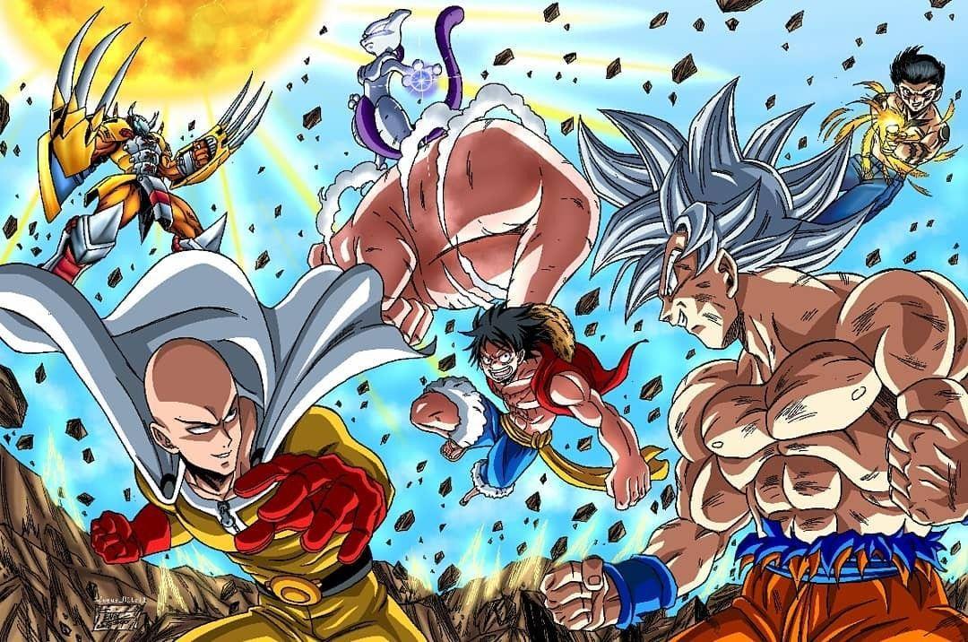 17 meilleures idées sur saitama vs goku | fond d'ecran dessin, manga, anime